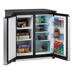 Avanti 5.5 CF Side by Side Refrigerator/Freezer, Black/Stainless Steel