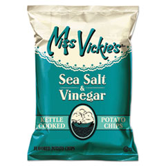 Miss Vickie's® Kettle Cooked Sea Salt and Vinegar Potato Chips, 1.38 oz Bag, 64/Carton