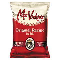 Miss Vickie's® Kettle Cooked Sea Salt Potato Chips, 1.38 oz Bag, 64/Carton