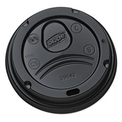 Dixie® Drink-Thru Lids for 10-20 oz Cups, Plastic, Black