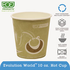 Eco-Products® Evolution World 24% Recycled Content Hot Cups Convenience Pack - 10oz., 50/PK
