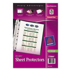 Avery® Mini Size Heavyweight Diamond Clear Sheet Protector