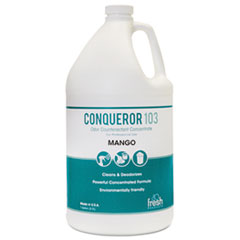 Fresh Products Conqueror 103 Odor Counteractant Concentrate, Mango, 1 gal Bottle, 4/Carton