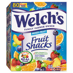 Welch's® Fruit Snacks, 0.9 oz Pouch, 80/Box