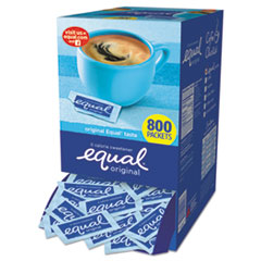 Equal® Zero Calorie Sweetener, 0.035 oz Packet, 800/Box