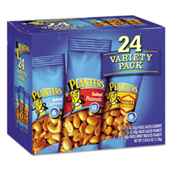 Planters® Variety Pack Peanuts and Cashews, 1.75 oz/1.5 oz Bag, 24/Box