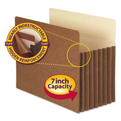 Smead® Redrope TUFF® Pocket Drop-Front File Pockets with Fully Lined Gussets