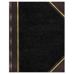 National® Texthide Notebook, Black/Burgundy, 500 Pages, 14 1/4 x 8 3/4