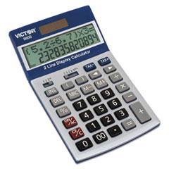 Victor® 9800 2-Line Easy Check Display Calculator, 12-Digit, LCD