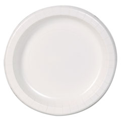 "Dixie Basic™ Basic Paper Dinnerware, Plates, White, 8.5"" Diameter, 125/Pack"