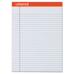 Universal® Fashion Colored Perforated Note Pads, 8 1/2 x 11 3/4, Legal, Gray, 50 Sht, 6/PK