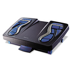 Fellowes® Energizer Foot Support, 17 7/8w x 13 1/4d x 6 1/2h, Charcoal/Blue/Gray