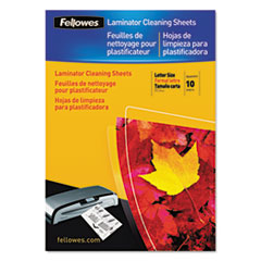 Fellowes® Laminator Cleaning Sheets, 3-10mil, 8 1/2 x 11, 10/Pack FEL5320603