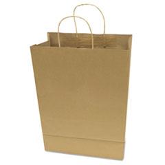 "COSCO Premium Shopping Bag, 12"" x 17"", Brown Kraft, 50/Box"