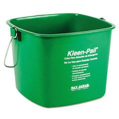 San Jamar® Kleen-Pail, 6qt, Plastic, Green, 12/Carton