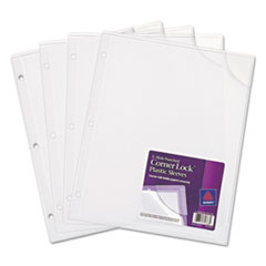 Avery® Corner Lock® 3-Hole Punched Plastic Sleeves