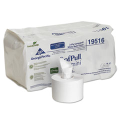 Georgia Pacific® Professional SofPull Mini Centerpull Bath Tissue, Septic Safe, 2-Ply, White, 5.25 x 8.4, 500 Sheets/Roll, 16 Rolls/Carton