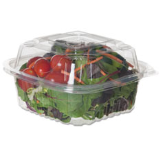 Eco-Products® Clear Clamshell Hinged Food Containers