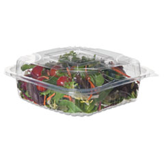 Eco-Products® Renewable and Compostable Clear Clamshells, 8 x 8 x 3, 80/Pack, 2 Packs/Carton