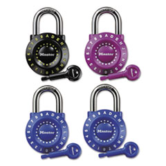 "Master Lock® Set-Your-Own Combination Lock, Steel, 1 7/8"" Wide, Assorted"