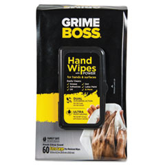 Sani Professional® Heavy-Duty Hand Wipes, 9 4/5 x 8 1/5, White, 60 Wipes