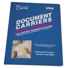 "PM Company® Document Carrier for Copying, Scanning, Faxing, 8 1/2"" x 11"", Clear, 10/Pack"
