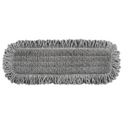 "Rubbermaid® Commercial HYGEN™ Pulse Executive Single-Sided Microfiber Dust Mop Head, 18"", Light Gray"