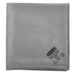 Rubbermaid® Commercial Executive Glass Microfiber Cloths, Gray, 16 x 16, 12/Pack