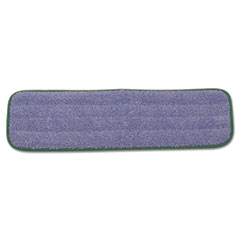 "Rubbermaid® Commercial Microfiber Wet Mopping Pad, 18 1/2"" x 5 1/2"" x 1/2"", Green, 12/Carton"