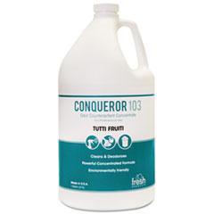 Fresh Products Conqueror 103 Odor Counteractant Concentrate, Tutti-Frutti, 1 gal Bottle, 4/Carton