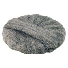 "GMT Radial Steel Wool Pads, Grade 2 (Coarse): Stripping/Scrubbing, 19"", Gray, 12/CT"