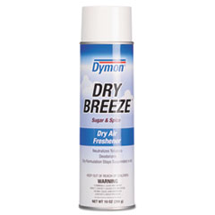 Dymon® Dry Breeze Aerosol Air Freshener, Sugar and Spice, 10 oz, 12/Carton