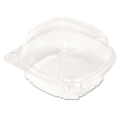 Pactiv ClearView SmartLock Food Containers, Hoagie Container, 11 oz, 5.25 x 5.25 x 2.5, Clear, 375/Carton