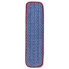"Rubbermaid® Commercial Microfiber Wet Mopping Pad, 18 1/2"" x 5 1/2"" x 1/2"", Red"