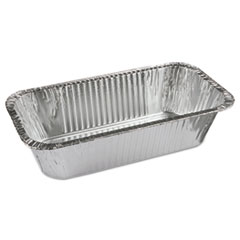 Pactiv Aluminum Bread/Loaf Pans, Ribbed 1/3-Size, 8.04 x 5.9 x 3, 200/Carton
