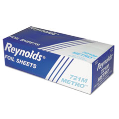 Reynolds Wrap® Metro Pop-Up Aluminum Foil Sheets, 12 x 10 3/4, Silver, 500/Box, 6/Carton