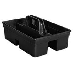 Rubbermaid® Commercial Executive Carry Caddy, 2-Compartment, Plastic, 10.75w x 6.5h, Black