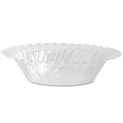WNA Classicware Plastic Dinnerware, Bowls, Clear, 10 oz, 18/Pack, 10 Packs/CT