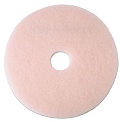 "3M™ Ultra High-Speed Eraser Floor Burnishing Pad 3600, 24"" Diameter, Pink, 5/Carton"