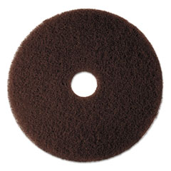 "3M™ Low-Speed High Productivity Floor Pad 7100, 17"" Diameter, Brown, 5/Carton"