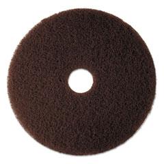 "3M™ Low-Speed High Productivity Floor Pad 7100, 17"" Diameter, Brown, 5/Carton"