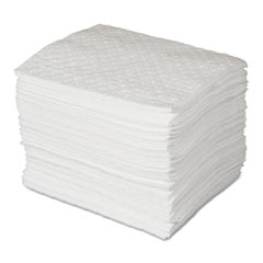 SPC® MAXX Enhanced Oil-Only Sorbent Pads, .3gal, 15w x 19l, White, 100/Bundle