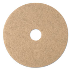 "3M™ Ultra High-Speed Natural Blend Floor Burnishing Pads 3500, 20"" Dia., Tan, 5/CT"