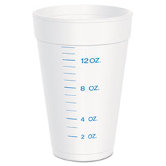 Dart® Graduated Foam Cup, 16 Ounces, 25 per Pack, 40 Packs/Carton
