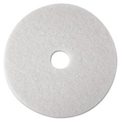 "3M™ Low-Speed Super Polishing Floor Pads 4100, 21"" Diameter, White, 5/Carton"