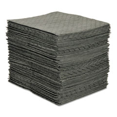 SPC® MRO Plus Heavy Sorbent Pads, .26gal, 15w x 19l, Gray