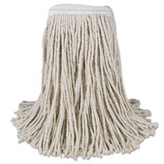 Boardwalk® Mop Head, Cotton, Cut-End, White, 4-Ply, #16 Band, 12/Carton