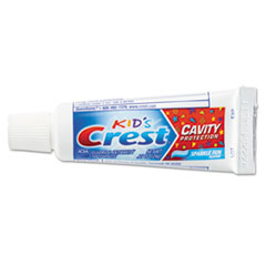 Crest® Kids' Sparkle Toothpaste, Blue, Bubblegum Flavor, 0.85 oz, 72/CT