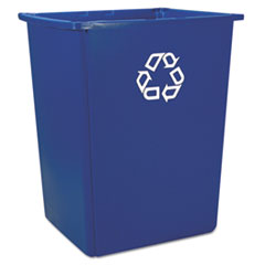 Rubbermaid® Commercial Glutton Recycling Container, Rectangular, 56 gal, Blue