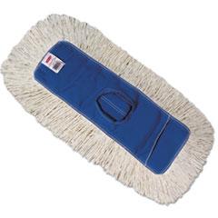 Rubbermaid® Commercial Kut-A-Way Dust Mop Head, Cotton/Polyester, White, 24w x 5d, Cut-End, Dozen